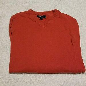 Men's Orange Long Sleeve Sweater